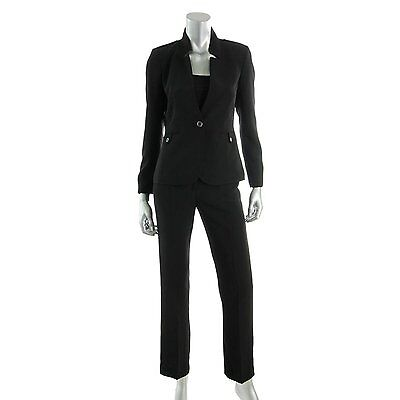 1981-1 Tahari By ASL Womens Petite Stand-Collar Pant Suit Set, Size 12P, $280.00