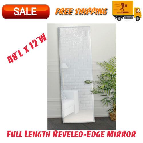 "Full Length Beveled-Edge Mirror 48""x 12"", Dorm Room Essentials, Rectangle Mirror"