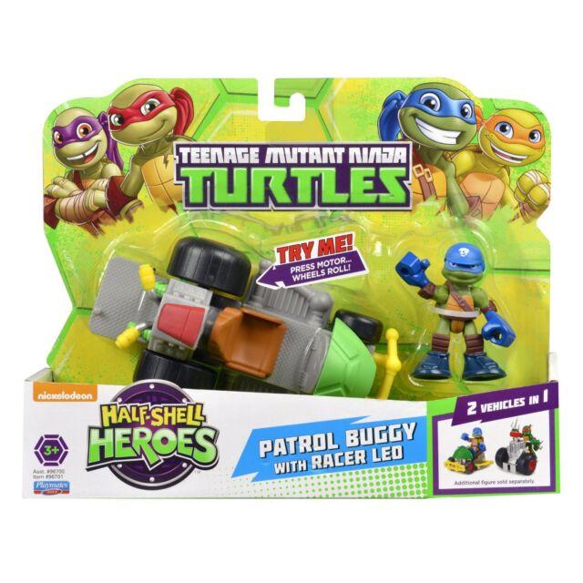 TMNT Ninja Turtles Pre-Cool Half Shell Heroes Patrol Buggy with Leonar