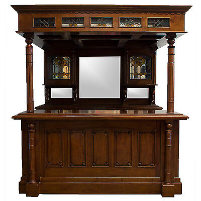 Dublin Irish - English Horse Canopy Home Bar Tavern Wine Store Counter w Canopy