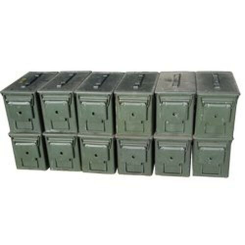 US Military M2A1 .50 Cal Ammo Cans, Pack of 12 Grade 2