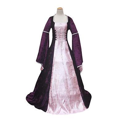 Purple Renaissance Medieval Queen Game of Thrones Dress Gown Halloween Costume - Purple Renaissance Costumes
