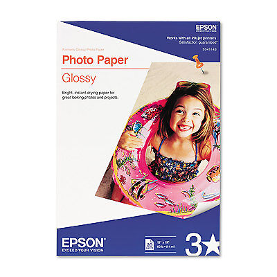 Epson Glossy Photo Paper 60 Lbs. Glossy 13 X 19 20 Sheets...