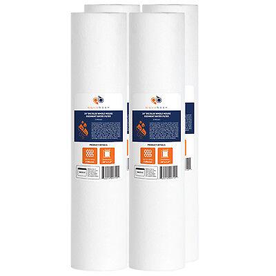 4Pk Of Big Blue 5 Micron 20  X 4 5  Sediment Water Filter Cartridge By Aquaboon