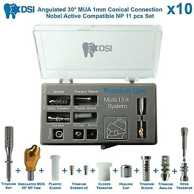 10 Dsi Dental Implant Angulated Multi Unit Set Np Nobel Active Conical 30 1m