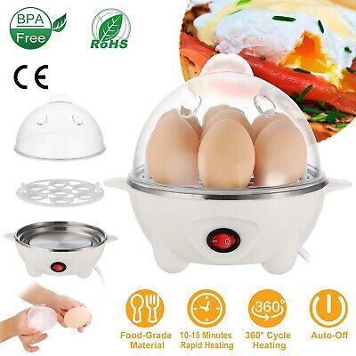 Electric Egg Cooker Boiler Poacher 7 Egg Electric Steamer Auto-Off Hard Boiled