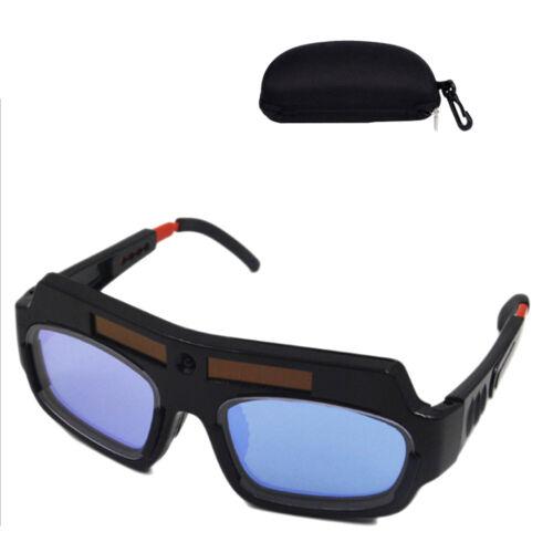 Solar Powered Auto Darkening Welding Mask Helmet Goggle Welder Glasses w/Case