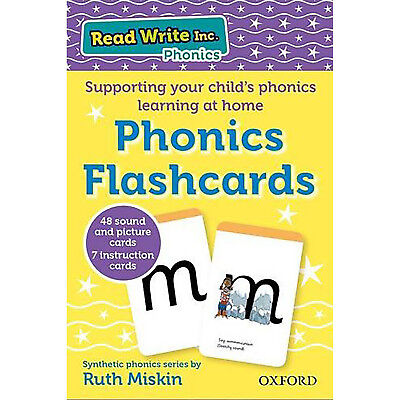 Read Write Inc Home Phonics Flashcards Ruth Miskin Kids Learn Study Toddler NEW