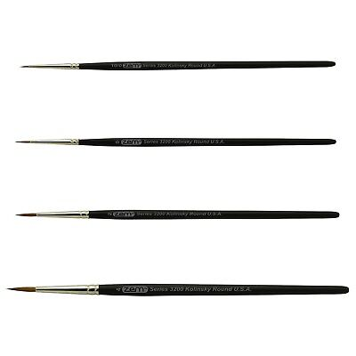 Used, AS-84 Kolinsky Pure Sable Detail Rounds Brush Set 4 pcs for sale  Campbell