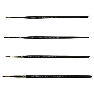 AS-84 Kolinsky Pure Sable Detail Rounds Brush Set 4 pcs