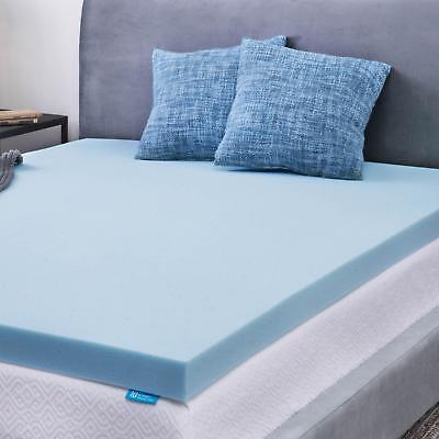 Contemporary Mattress - LUCID 2, 3, 4 inch Gel Memory Foam Mattress Topper, Out of Original Package, OOP