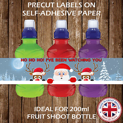 PERSONALISED CHRISTMAS FRUIT SHOOT LABELS CHILDREN PARTY FAVOURS GIFT BAGS - Children's Christmas Party Ideas