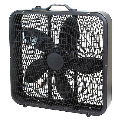 "Comfort Zone CZ200ABK 20"" 3-Speed Box Fan, Black"