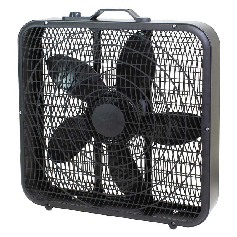 Comfort Zone CZ200ABK High Performance Box Fan Air Conditioner, Black, 20 Inch