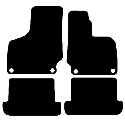 Audi TT MK2 2006 to 2014 Tailored Black Car Floor Mats Carpets Set With Clips
