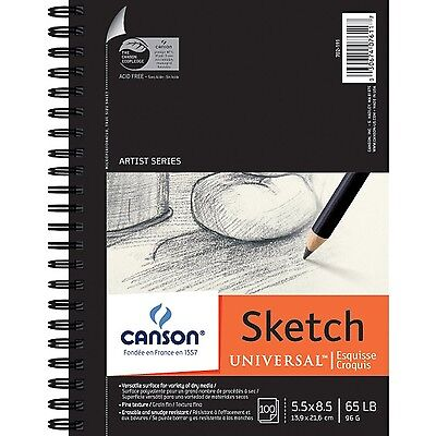 100 Sheets Quality Drawing Paper Sketch Pad Notebook Art Supplies Sketchbook New