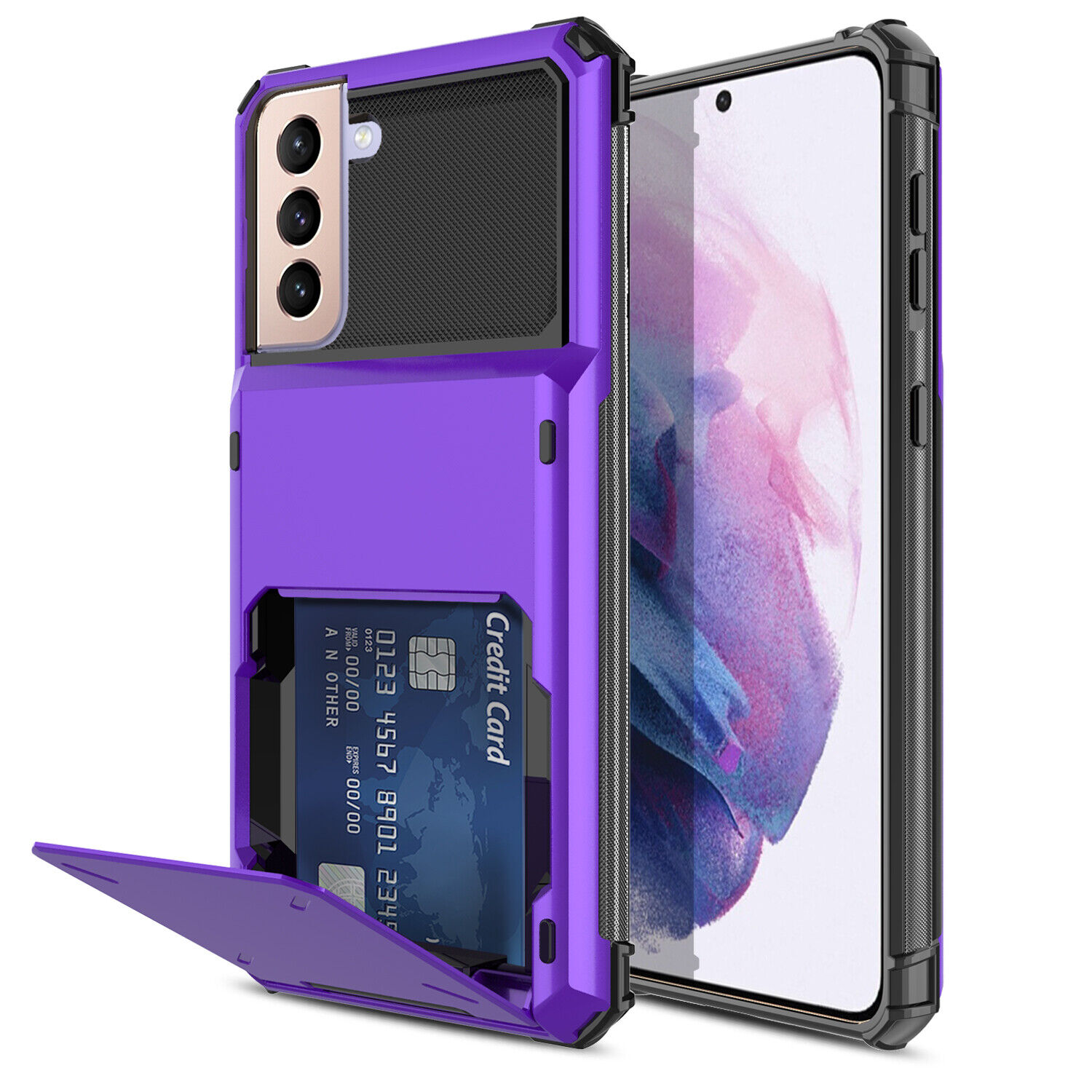 For Samsung Galaxy S21 Ultra/S21+/S21 5G Case Cover With Card Wallet Holder Slot Cases, Covers & Skins