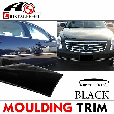 25ft Black Moulding Trim Strip Self-adhesive Decorative Body Side Car Parts 40mm