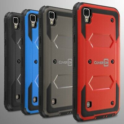 For LG Tribute HD / X Style Hard Case Hybrid Phone Cover Armor