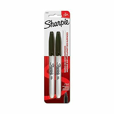 Sharpie Permanent Markers Fine Point Black 2 Ct
