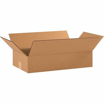 18 X 10 X 4 Flat Cardboard Corrugated Boxes 200ect-32 Lot Of 25
