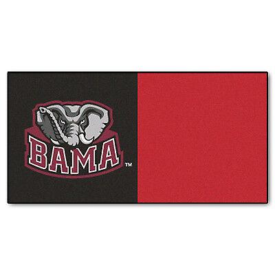 FANMATS NCAA University of Alabama Crimson Tide Carpet Tiles 18x18 - 20 tiles