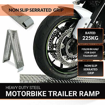 1X Plegable Moto/ Bicicleta/ Moto/ MX Carga Rampa 1.8m Alta Calidad