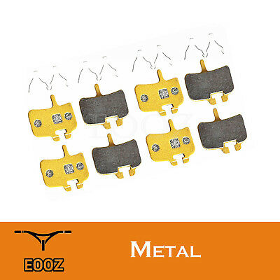 EOOZ New 4 Pairs Bicycle Metallic DISC BRAKE PADS For HAYES HFX-Mag Series