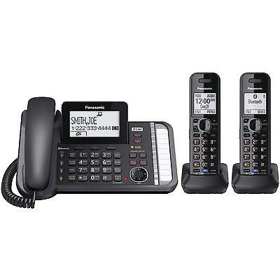 Panasonic KX-TG9582B Link2Cell DECT_6.0 2-Handset 2-Line Digital Cordless Phone