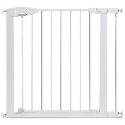Indoor Dog Gate Pet Cat Door Fence Adjustable Baby Barrier Safety Metal 29.5-35