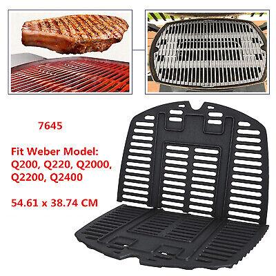 Cast Iron Cooking Grates for Weber Q200, Q2000, Q2200, Q2400, 53060001 Gas Grill