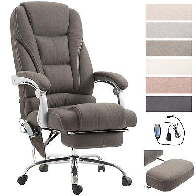Bürostuhl Pacific Stoff mit Fußablage und Massagefunktion Bürosessel Chefsessel