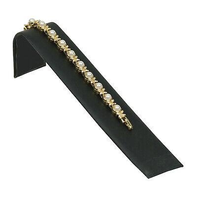 Black Velvet Single Bracelet Jewelry Display Holder Ramp Stand