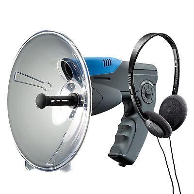 Spy Gear Listening Device Sound Dish Headphones Birding Stake Out Stalker Bird