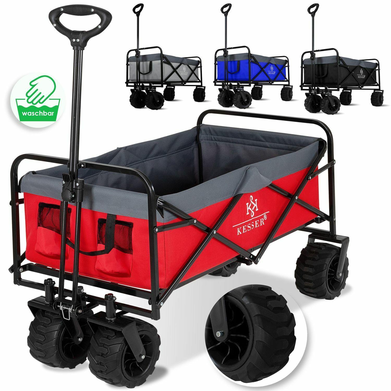 KESSER® Bollerwagen Faltbar Offroad Handwagen Klappbar Transportkarre 360° Räder