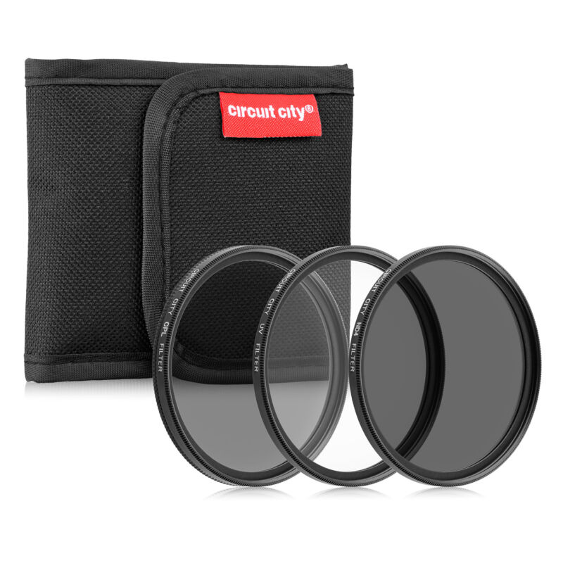 Circuit City 58MM Professional Multi-Coated Digital Filter Kit (UV, CPL, ND4)