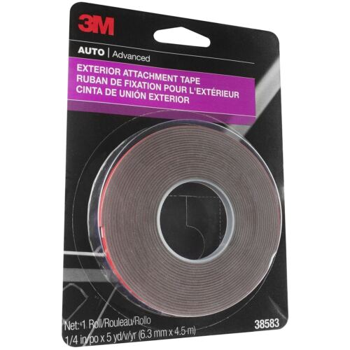 3M 38583 1/4' x 15' Exterior Attachment Tape