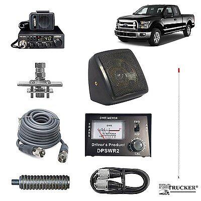 Pro Trucker Pickup CB Radio Kit Includes Radio, 4' Antenna, CB Antenna Mount, CB