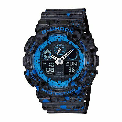 Casio G-Shock Men's GA100ST-2A Stash Limited Edition Black/Blue Resin 51mm Watch