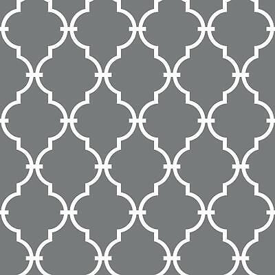 RoomMates Grey Modern Trellis Peel and Stick Wallpaper Gray 20.5