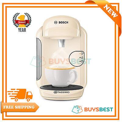 Bosch Tassimo Vivy 2 Coffee Machine 1300 Watt, 0.7 Litre In Cream - TAS1407GB