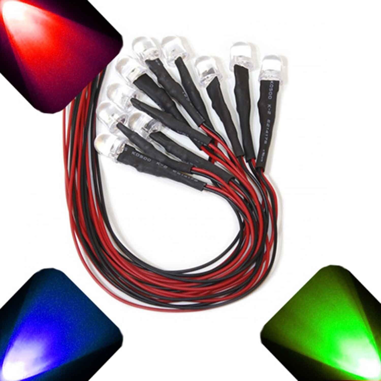100 x LED Pre wired 12v 5mm RGB LEDs Prewired 12 volt Fast Auto Change 9v 6v