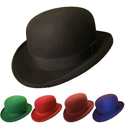 Hut Bowler (englische Melone, Bowler, Hut individuell, in rot, grün, blau, weiss, schwarz)