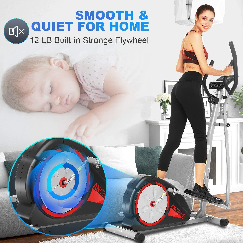 New Magnetic Elliptical Exercise Fitness Training Machine Ho