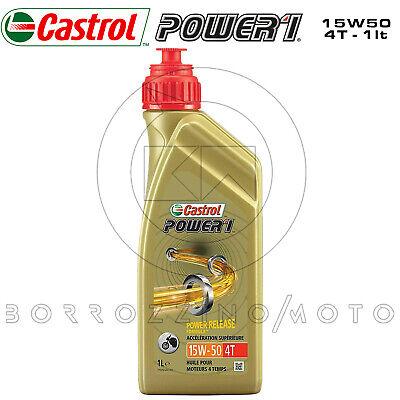 1 LT OLIO MOTORE CASTROL POWER 1 4T 15W50 POWER PROTECTION SEMI-SINTETICO MOTO