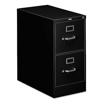 HON 310 Series Two-Drawer Full-Suspension File Letter 26-1/2d Black 312PP (Full Suspension Drawers)