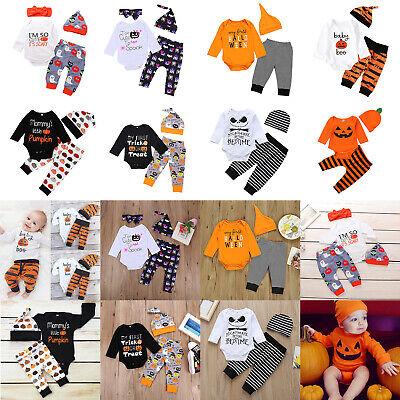 Baby Kinder Halloween Top Kostüm Set Kurzer Overall Hose Kleidung Outfits Menge