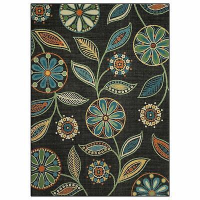 Fantastic Multi-color Artwork Floral Collection Rug Bedroom Living & Dining Room Multi Living Room