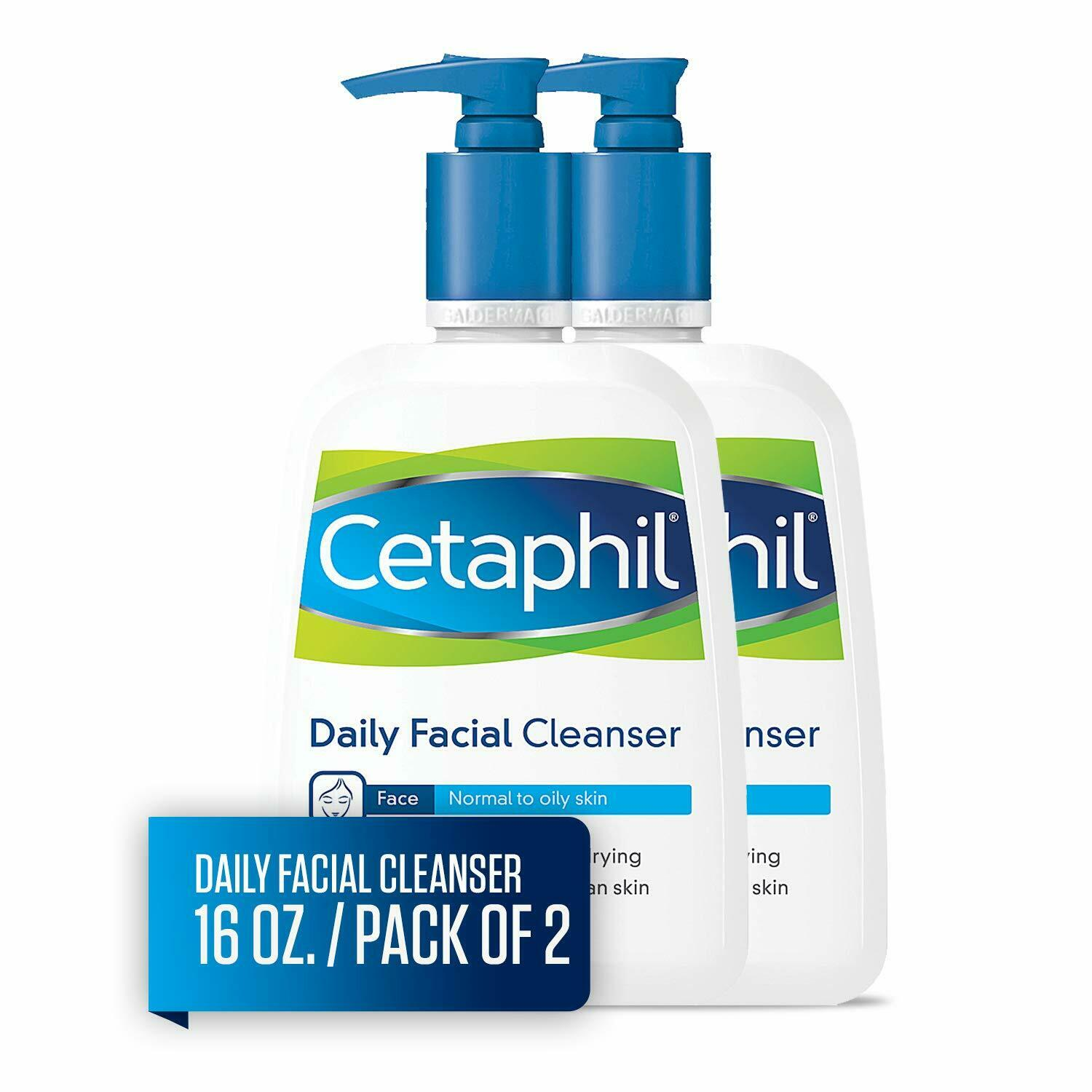 New Cetaphil Daily Facial Cleanser, For Normal to Oily Skin,