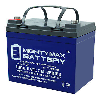 Mighty Max Battery 12V 35AH Gel Battery Replacement for Sevy